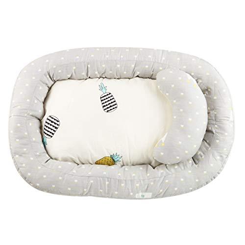 HelloCreate - Cuna para recién nacido, suave nido para bebé, portátil, cuna para bebés de 0 a 1 año Stars Talla:75 x 50 x 6cm / 29.5 x 19.7 x 2.4inch