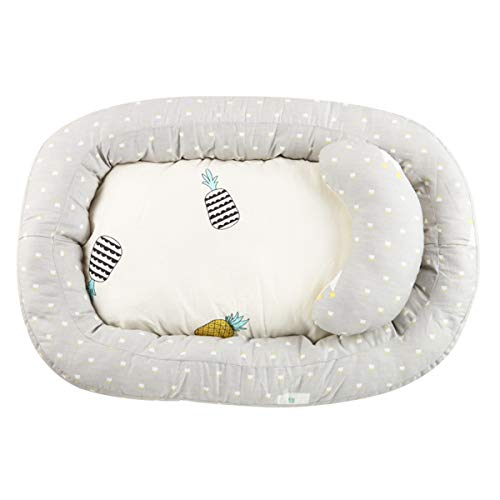 Buy Bargain DaMohony Baby Lounger, Portable Newborn Crib Nest Soft Breathable Infant Bed Co-Sleeping...