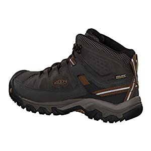 KEEN Men's Targhee iii mid Leather wp-m Hiking Boot, Black Olive/Golden Brown, 9 M US