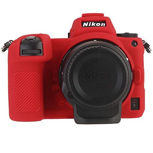 Nikon Z6 / Nikon Z7 Digitalkamera Schutzhülle, HATA Nikon Z6 / Nikon Z7 Bereift Silikon kameratasche 360 Grad Stoßfest Gummi Handyhülle für Nikon Z6 / Nikon Z7 (Nikon Z7, Red)