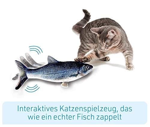 Mediashop Flippity Fish - 2 Stück – elektrisches Katzenspielzeug – Katzenminze - wiederaufladbar mit USB Kabel - Verschiedene Geschwindigkeitsstufen, mit Spielangel | Das Original aus dem TV - 3
