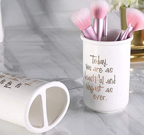 Porte pinceau de maquillage ,la table pour crayon à sourcils, eye-liner Organisateur Pour, Tube de maquillage pinceau à sourcils pinceau pinceau mettre le peigne baril droit 10 * 9.2 * 8.8