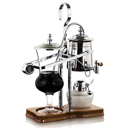 Belgische Belgien Royal Family Balance Siphon Siphon Kaffeemaschine mit T-Griff, silberfarben, 1 Set