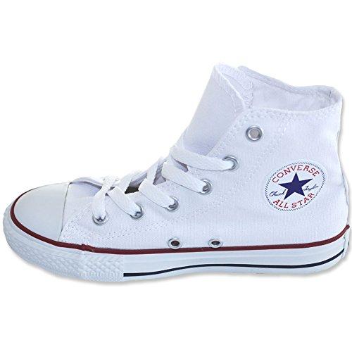 Converse Unisex-Kinder Chuck Taylor All Star Hi Hohe Sneakers, Weiß, 34 EU