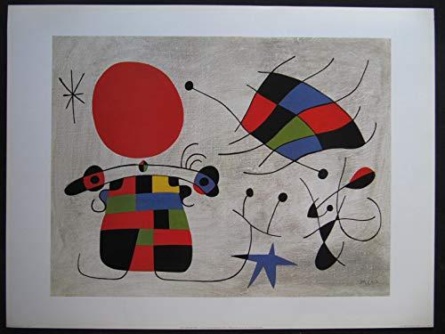 none Le Sourire des ailes flamboyantes 1953 (Miro), Kunstdruck 60 x 80 cm