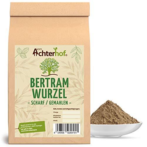 Bertramwurzel scharf gemahlen (100g) | Bertramwurzelpulver | Bertram Wurzel Pulver | 100% ECHTES Bertrampulver vom Achterhof