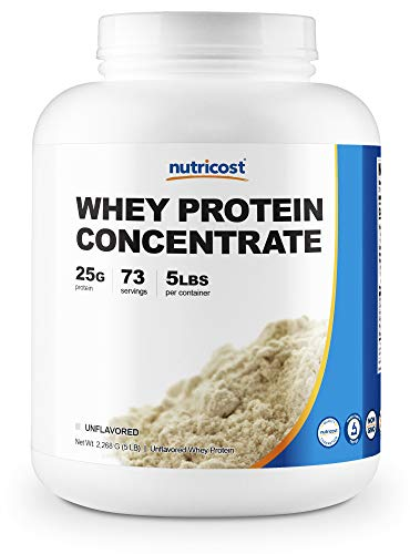 Nutricost Whey Protein Concentrate (Unflavored) 5LBS