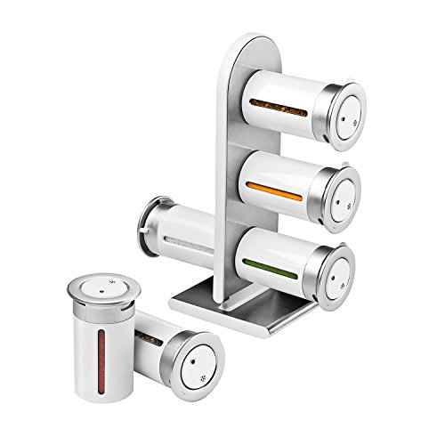 ZeroGravity Magnetisches Gewürzregal 6-er Set zum Aufstellen, Farbe zur Wahl weiß