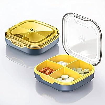 Mengbo Investment Pill Box, Vitamin Cases Pill Organizers, Pill Case Small, Cute Pill Organizer, Mini Pill Box,Portable Pill Case,Pill Organizer Cute,Pill Case,Cute Pill Organizer,Pill Box Travel