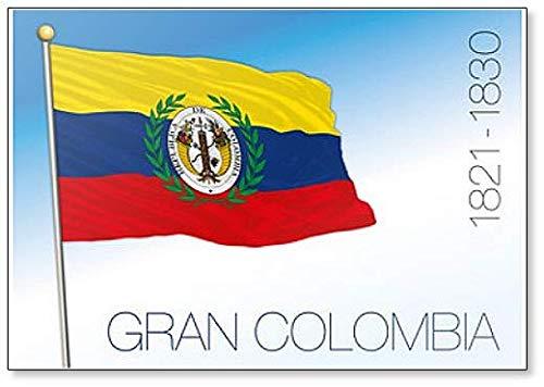 Kühlschrankmagnet Gran Colombia, Historische Flagge, 1821-1830, Illustration