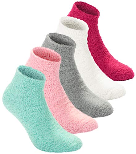 BRUBAKER Calcetines de Muyer para Dormir Multicolor Talla única (10 pares)