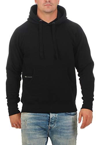 Happy Clothing Herren Pullover Dunkelblau mit Kapuze Pulli Übergröße bis 3XL 4XL 5XL, Größe:4XL, Farbe:Schwarz