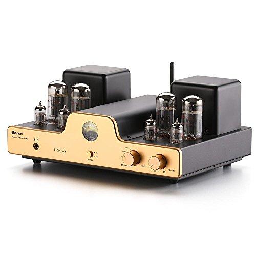 Dared I30BT Stereo-Integral röhrenverstärker,Verstärker für Röhren, Tube Amplifier, Bluetooth, USB/DAC- und Line-Eingang, Kopfhörerausgang, Ausgangsleistung 30WX2