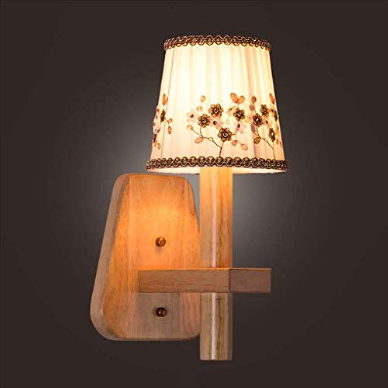XRFHZT Flur Innenbeleuchtung warme tgliche Tuchwandlampe Schlafzimmer Nachttischlampe
