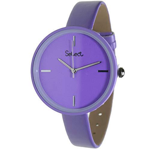 Select Tt-41-586 Reloj Analogico para Mujer Caja De Resina Esfera Color Morado