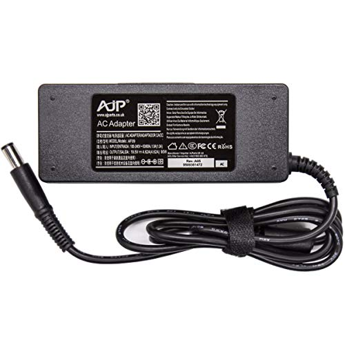 AJP Genuine 90W AC Adapter For Dell Inspiron N301Z , N4020 , N4030 , N5030 , Laptop Battery Charger Power Supply With 7.4 X 5.0 MM Pin Size PSU19.5V 4.62A Adaptor + Mains CABLE