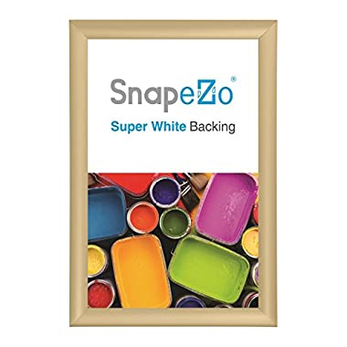SnapeZo Diploma Frame 11x17 Inch, Gold 1  Aluminum Profile, Front-Loading Snap Frame, Wall Mounting, Sleek Series