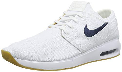 Nike SB Air MAX Janoski 2, Zapatillas Hombre, White/Obsidian/Celestial Gold/Gum Lt Brown, 38 EU