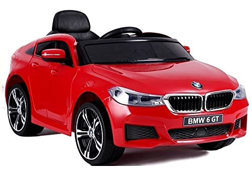 Coche eléctrico 12 V BMW 6 GT Rojo – Pack Luxe