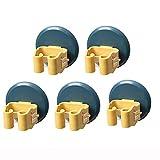 Colgador Escoba Y Fregona, Soporte Para Escobas, Adhesivos Ganchos Para Colgar Escobas Sin Perforar Para Hogar Cocina Baño Garajes, 7.5X7.5X6Cm 5 Pzs