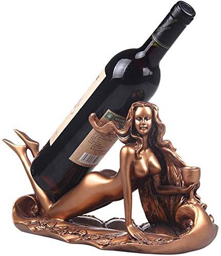 Botella Estante De La Botella Estante De Vino Sala De Estar Acostado En Una Hermosa Ubicación Resina Pantalla Estante Europeo Regalos Familiares,Bronce