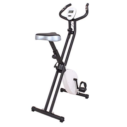 N \ A Bicicleta EstáTica Reclinada Plegable, Equipo De Ejercicios para Interiores con Monitor De Frecuencia CardíAca, Velocidad, Tiempo, Distancia Y CaloríAs para Entrenamiento En Casa Y Cardio