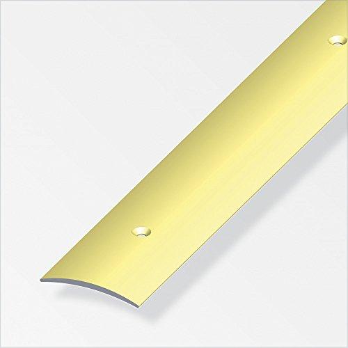 Übergangsprofil gewölbt/gelocht; 40mm/ 100cm Alu eloxiert gold