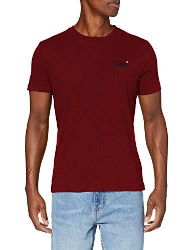 Superdry OL Vintage Emb tee Camiseta, Rich Red Grit, XXL para Hombre