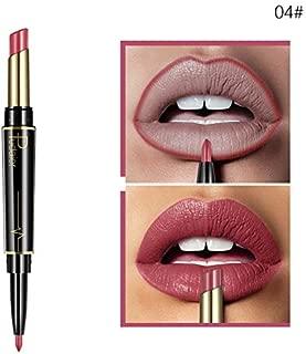 Double Head Lipstick Lip Liner Pencils Waterproof Long Lasting Pigment Nude 04