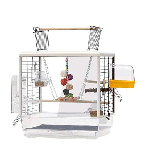 YINGZI Birdscage Apri Top Bird Cage con Stand Large Birdcage Flight Parrot Parrot in Ferro Battuto Bird House per BirdsBirds Finches Canaries Crea e Decora