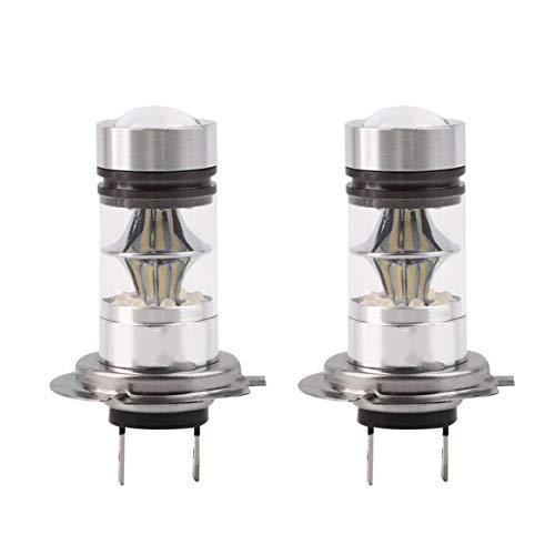KoelrMsd 2 uds H7 100W 12V LED de Alta Potencia Estilo de Coche Faro automático DRL Luces antiniebla lámparas LED para Coches Bombillas de proyector HID 6000K