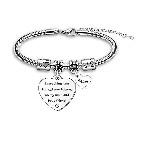 Mothers Day Gift Bracelet from Daughter Son Mother Mum Bracelet Thanksgiving Gift