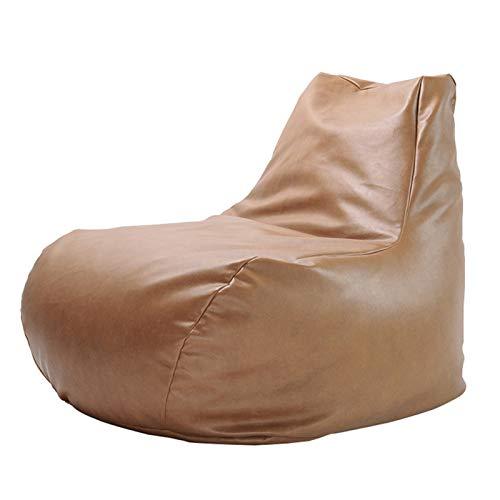LDIW Moderno Puff de Salon, Cojines para Suelo Grandes Resistente al Agua Bean Bag Puf Gigante para Decoracion Habitacion para Niños y Adultos,Caqui,EPP