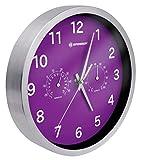 Bresser MyTime Thermo-/Hygro- orologio a parete 25cm - violett, viola, acciaio