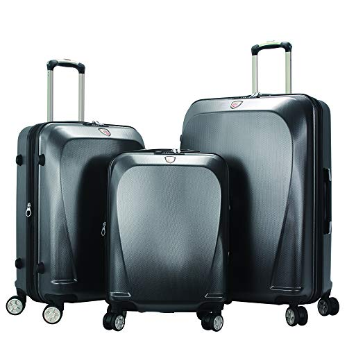 Lowest Price! GinzaTravel Widened and thickened large capacity PC Material Luggage 3 Piece Sets Ligh...