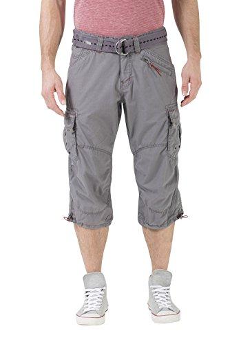 Timezone Herren Loose Miles 3/4 Cargo Incl. Belt Shorts, Grau (Beluga Grey 9162), W34