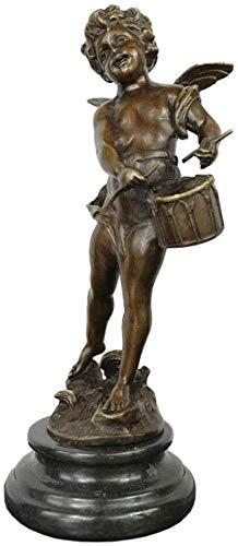 GAOYINMEI Escultura de escritorio Estatua Ángel Bronce Escultura Arte Decoración, Eros Estatua Cupido Escultura Artesanal Modelo Jardín...