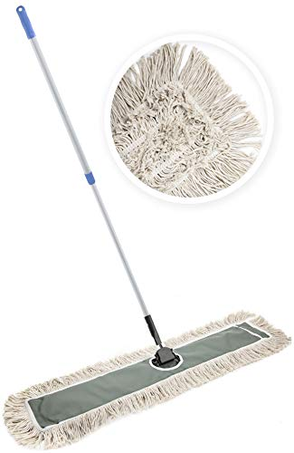 JINCLEAN 24' Industrial Class Cotton Floor Mop | Dry to Attract dirt, dust...