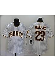 Padres # 23 TATIS JR. Camiseta de béisbol para Hombre Jersey, Manga Corta Uniforme del Equipo de Juego Botón Top Fan Sudadera Camiseta de béisbol Personalizada (S-XXXL) admini