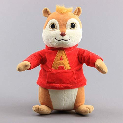 siqiwl Peluches 32cm Film Alvin und Die Chipmunks Plüsch Spielzeug Puppe Peluche Kuscheltiere Spielzeug Frauen Kinder Geburtstag Geschenk