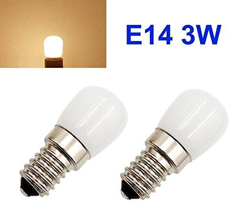 2 x 230V AC 3W 3000K E14 mini LED Ersatzlampe für Nähmaschine Kühlschrank Lampe Birne Licht