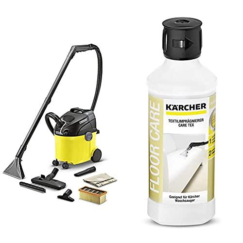 Karcher - Injecteur / Extracteur SE 5.100 - avec système de Confort 2 en 1, Système 2 Réservoirs, Gros Boutons et Verrou Tournant Pratique. & 6.295–769.0/RM 762Care Tex (500ML)
