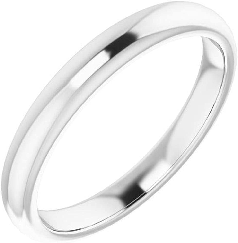 Solid 18K White Gold Popular Soldering brand Curved Notched Square for 8mm Band Wedding