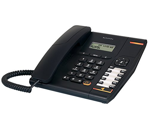 Alcatel T-580 Black Corded Landline Phone With 2 Line Display & Hand Free Function10 Direct Memories & 50 Names & Number Diretory