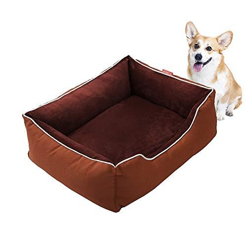 PETHOMEL Dog Bed, Dog Mat with Reversible Cushion, Warm Dog Sofa, Comfortable And Breathable, Non-Slip, Raised Edge,S