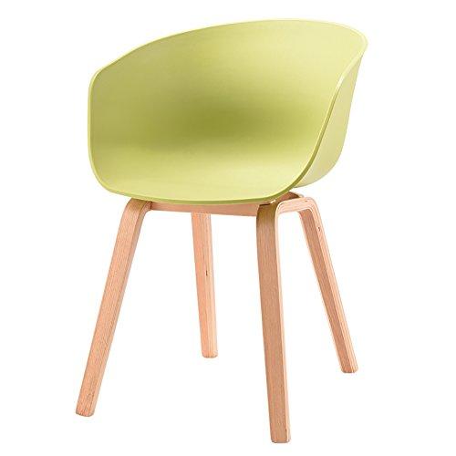MENA Uk Designer Stuhl Sessel Stativ Hochwertiger Bent Wood Panton Designer PP Stuhl (Farbe : Hellgrün, größe : H75cm)