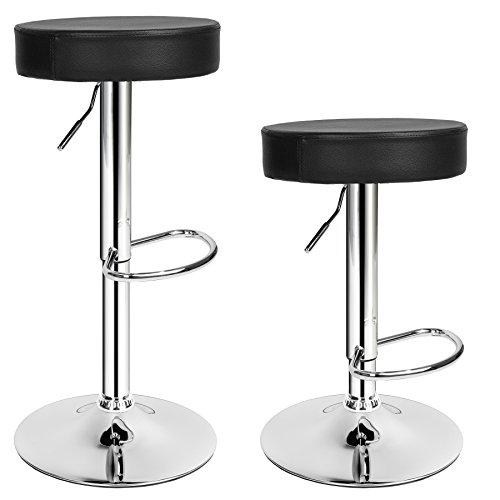 TecTake Tabourets de Bar Chaise Fauteuil bistrot réglable pivotant siège Design - diverses modèles - (2X Sebastian | no. 401562)