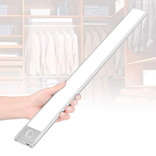 70 LED Closet Light,Cotanic Motion Sensor Under Cabinet Lights,USB Rechargeable,15.94 Inches Length,Detachable Ultra-Thin Night Lights with Battery for Cabinet,Wardrobe,Vanity Mirror, Kitchen,Hallway