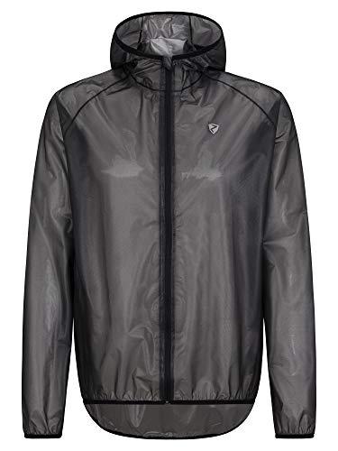 Ziener Herren NONNO Regenjacke - Fahrrad,Outdoor,Freizeit - wasserdicht atmungsaktiv super leicht, black, 56