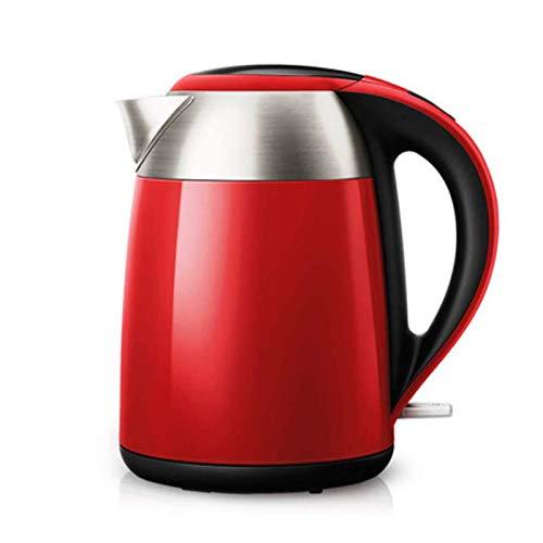 Pfeifkessel 1,7 Liter Wasserkocher/Wasserkocher, Energiesparender Wasserkocher, 1800 Watt, Automatische Abschaltung (Rot + Schwarz)